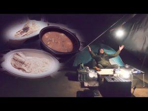 【冬】ひとりキャンプで贅沢な夜食