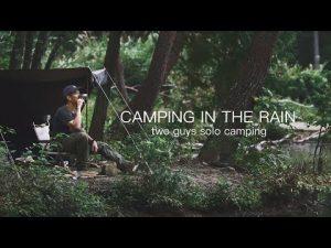 初めての雨キャンプ。モツ鍋が体を温める。 キャンプ飯 solo camping